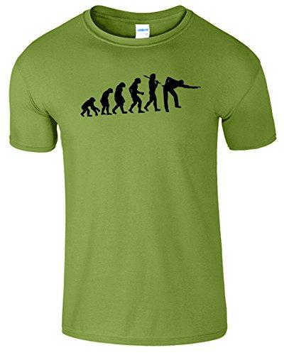 Evolution Of Snooker Herren T Shirt Schwimmbad Komisch Spiel Kiwi / Schwarz Design