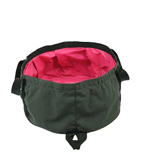 Berg im Freien Camping Easy Falten Sockel Waschbecken / Waschbecken / Waschbecken / Eimer kann Warmwasser / Stoff Tasche installieren