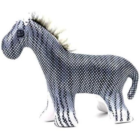 Piccolo animale di sabbia a forma di zebra