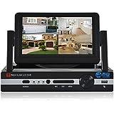 JOOAN 3704P 960H DVR 4 canaux de détection de mouvement réseau CCTV Enregistreur de surveillance avec affichage