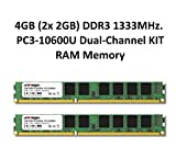 4GB (2X 2GB) Dual Channel kit DDR31333MHz PC3-10600u 240pin 2Rx8PC RAM Memory memoria ram