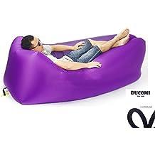 Ducomi® AirPuffy - Colchón Autoinflable Portable e Impermeable Cómodas Bolsa Journey - Sillón Sofás Ideal