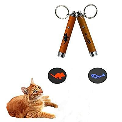 Baby Pet ®Cat Interactive Mice LED Light Pointer Cat Exercise Chaser Toys Pet Scratching Training Tool(2 Pack)