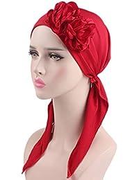 Amorar Femmes Perte De Cheveux Be Air Stretch Coton Bow Turban Bandeau  Écharpe Tête Wrap Hiver Chaud Chemo Cancer Chemotherapy Chapeau Muslim  Foulard ... 1909b15c817