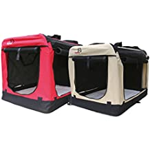 Hundetransportbox faltbar - Transportbox für Hunde - Dogi Kennel - beige Größe XXL