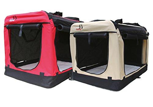 Hundetransportbox faltbar - Transportbox für Hunde - Dogi Kennel - beige Größe M