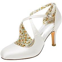 Emily Bridal Zapatos Nupciales Zapatos de Boda de la Vendimia Bombas de tacón  Alto Zapatos de 7b9957eefbe