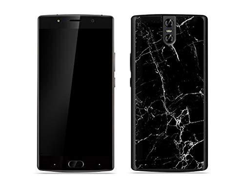 etuo Handyhülle für Doogee BL7000 - Hülle Fantastic Case - Schwarze Marmor - Handyhülle Schutzhülle Etui Case Cover Tasche für Handy