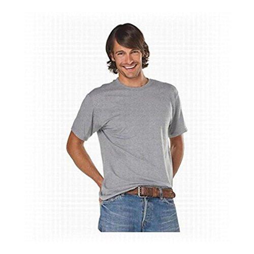 Hanes Cotton Blend 5.5 OZ T-Shirt in Black - Large (Sleeve Blk Shirt Short)