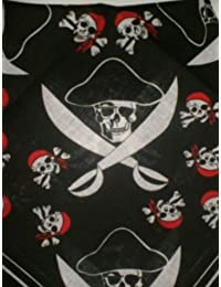 Jolly Roger Pirate Skull & Crossbones Bandana - Head/Neck Scarf by Trevisco