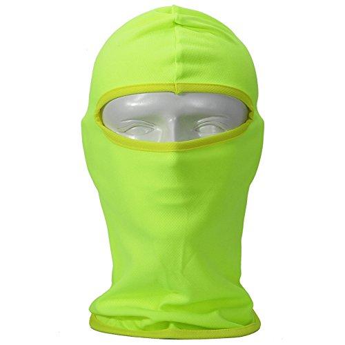 Tofern Passamontagna 12 Colore Puro Passamontagna Multifunzione Moto Sport All'Aria Aperta Piena Protezione Per Il Viso Al Vento Anti-UV Rapidamente Asciutto, BA-02