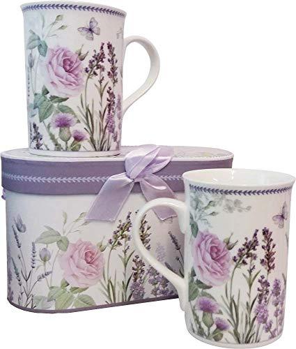 Coffret cadeau 2 mugs Lavande