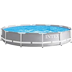 Intex 12Ft X 30In Prism Metal Frame Swimming Pool, Multi Colour