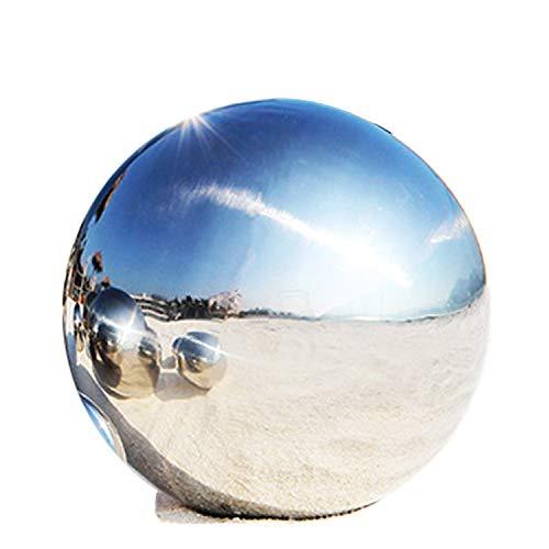 LANUCN 8 Zoll Groß gartenkugeln Rasen Spiegelkugel Silber Edelstahl für Partydekoration Metallgarten-Kugeln (20cm x 1 Stück)