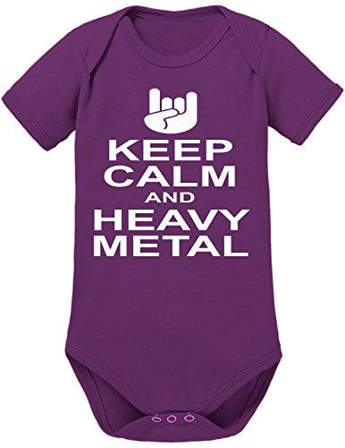 Touchlines Keep Calm Heavy Metal Body per bimbi Liliac, 74