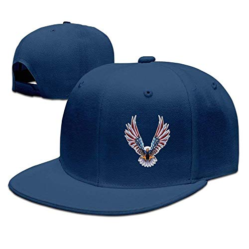 Adults American Eagle Animal Funny Snapback Fitted Flat Bill Hats -