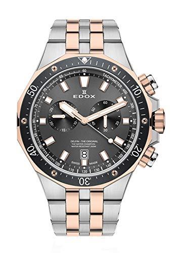 Edox 10109 357RBUM NIR - Reloj de Pulsera para Hombre (cronógrafo, Fecha, analógico, Cuarzo)