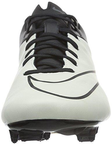 Nike Mercurial Veloce II Lthr FG, Chaussures de Foot Homme Blanc (White)