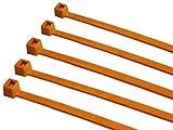 TR2- Fascette da elettricista, in nylon, 140mm x 3,6mm, 100pezzi, colore: arancione