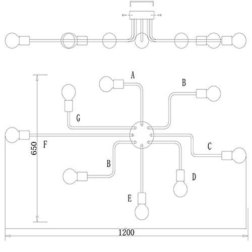 Moderne Industrielampe Deckenlampe - 3