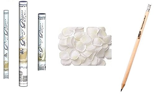 IRPot - KIT WEDDING 3 X TUBO SPARACORIANDOLI 40-60-80 CM + PETALI ARTIFICIALI