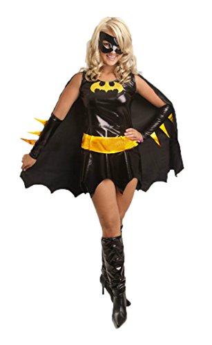 aimerfeel signore supereroe Batgirl mantello costume vestito e la maschera, dimensioni: 40-42