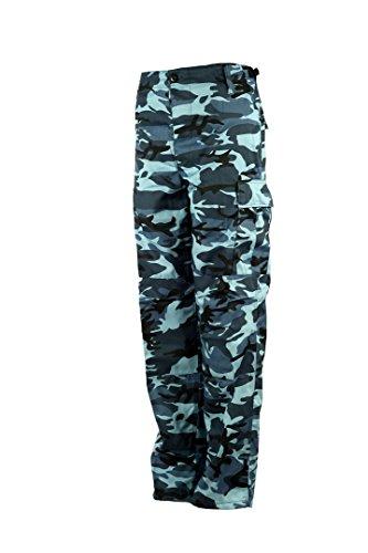 US Army Pantaloni cargo mimetici, per il tempo libero Sky-Camo Taglia unica
