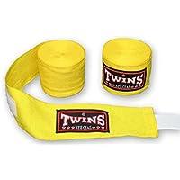 Protectores de muñecas especiales de algodón de Twins., amarillo