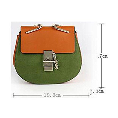 Damen Schulter Messenger Bag Damen Kette kleine Schwein Tasche einfache wilde kleine Tasche orange red