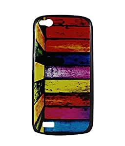 Exclusive Hard Back Case cover For Gionee Elife E3 - Multicolor Strips Design 1