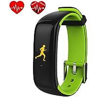 DGRTUY Smart Band - Pulsera de Fitness con rastreador de frecuencia cardíaca, tensiómetro de la