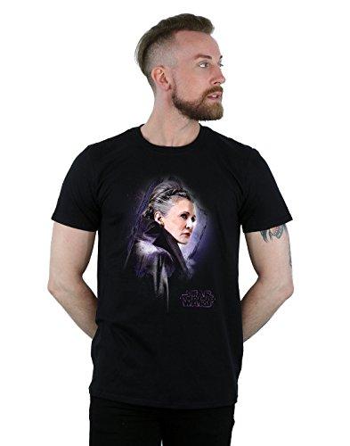 Star Wars Herren The Last Jedi Leia Brushed T-Shirt Schwarz