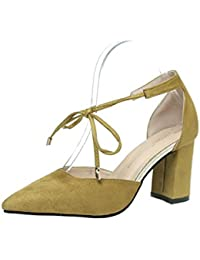 Damen Sandalen High Heel Sommer Spitz Mode Baotou Bequeme Asakuchi Schuhe