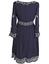 Monsoon - Robe - Femme Bleu Navy/Cream