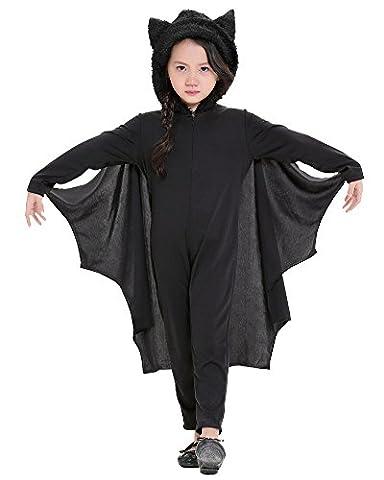 LaoZan Carnaval Party costumes d'halloween pour enfants Cosplay Déguisement chauve-souris S Noir