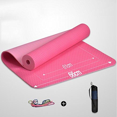 Yogamatte, Extra Breiter Rutschfeste für Frauen, mit Tragegurt und Tasche, Hohe Dichte reißfestem Gymnastikmatte für Pilates Fitness Workout, Grün