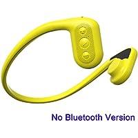 Tayogo IPX8 MP3 Knochenleitung Kopfhörer Wasserdicht FM Radio 8 GB Unterwasser 5m für jeden Sport, e