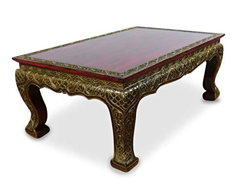 Asiatische Wohnzimmer Beistelltisch (livasia Opiumtisch, Asiatischer Beistelltisch in Glasmosaik Design, 76x50cm, Couchtisch (Handarbeit))