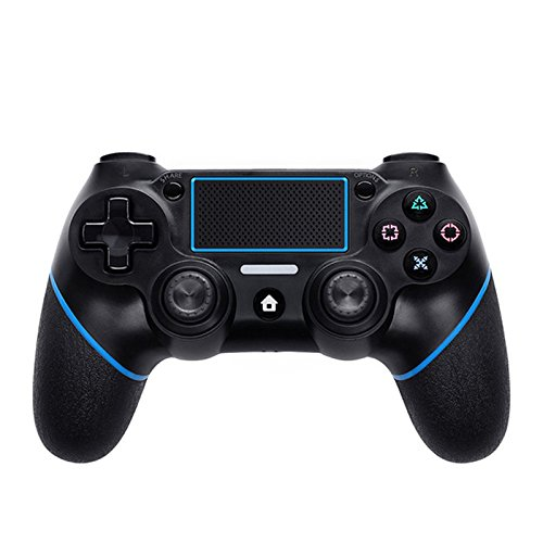Qiyun Gamepad per PS4 Controller per Playstation 4 Joystick da Videogiochi Bluetooth Wireless 6 Axies per PS4 - Nero + Blu