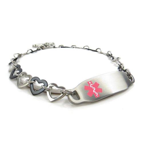 myiddr-collier-arbre-crou-allergiques-bracelet-mdical-pour-identification-acier-et-curs-noir-day