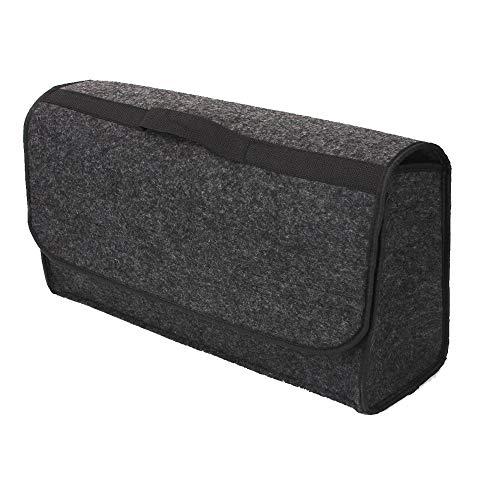 Autoaufbewahrungstasche Kofferraum-Organisator Groß Faltbarer Aufbewahrungstasche Beutel-Behälter für Auto-LKW-SUV, 50 x 15 x 23cm/19.7x5.9x9.0in, Grau -