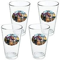 97f85eeb33c87 Zion National Park Utah UT Animals Cougar Bär Hirsch Waschbär Neuheit 427  ml Trinkglas Sekuritglas 4er