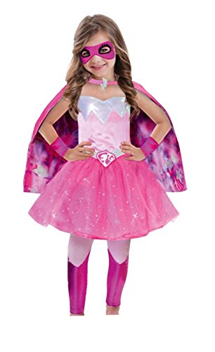 amscan- Déguisement Barbie Power Princess, 999339, Multicore, 3-5 Ans