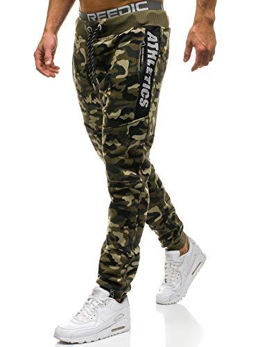 BOLF Hombre Pantalón De Chándal Jogger P&L Fashion QN267 Verde XXL [6F6]