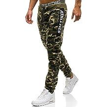 BOLF Hombre Pantalón De Chándal Jogger Pantalones Deportivos Diseño  Camuflaje Pantalón de Algodón ... df5e8ab5f6012