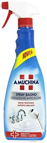 Amuchina - Spray Bagno, Igienizzante Anticalcare - 4 pezzi da 750 ml [3 l]