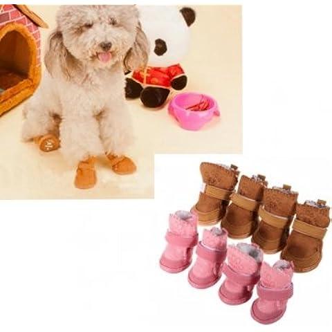 Gato de invierno zapatos del perro caliente zapatos calzado botas de nieve