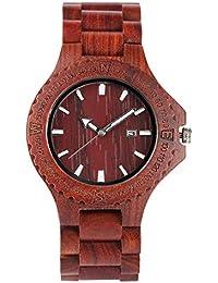 2cd27eaf6cc9 Amazon.es  madera - Rojo  Relojes