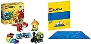 Lego Bricks and Ideas set with Blue Baseplate