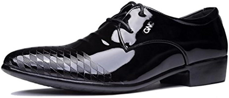 ZCH Männer schuhe Business Casual Schuhe spitzen Spitze Anzüge Schuhe Erhöhen Ferse Kleid Schuhe